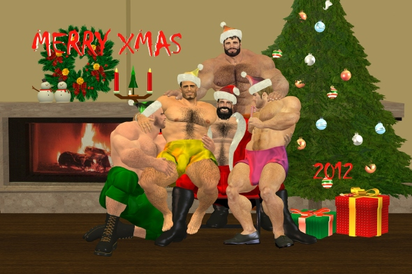 My Santa & His Helpers are Hairy Hunks