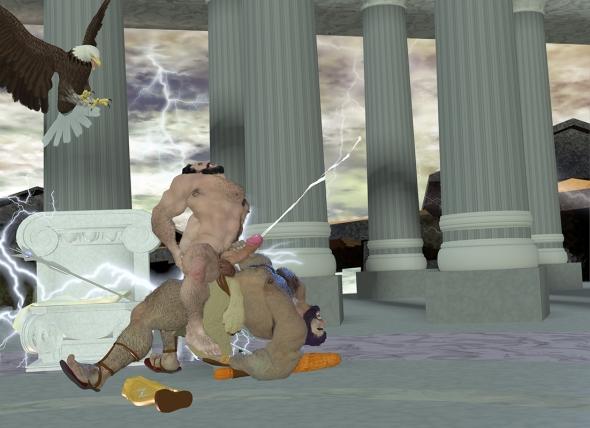 Zeus Riding Hercules